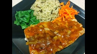 Salmon with Wild Rice Pilaf