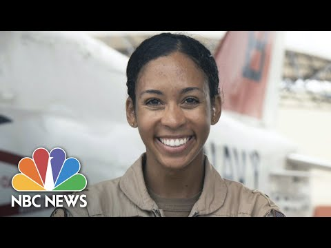 Navy's First Black Female Tactical Fighter Pilot Receives Wings of Gold | NBC Nightly News
