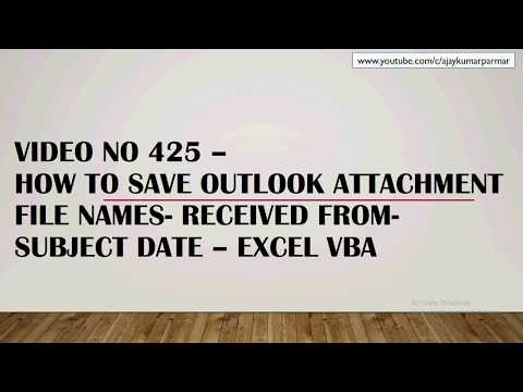 Learn MS Excel -Video 426- VBA - Import Outlook file names & dates