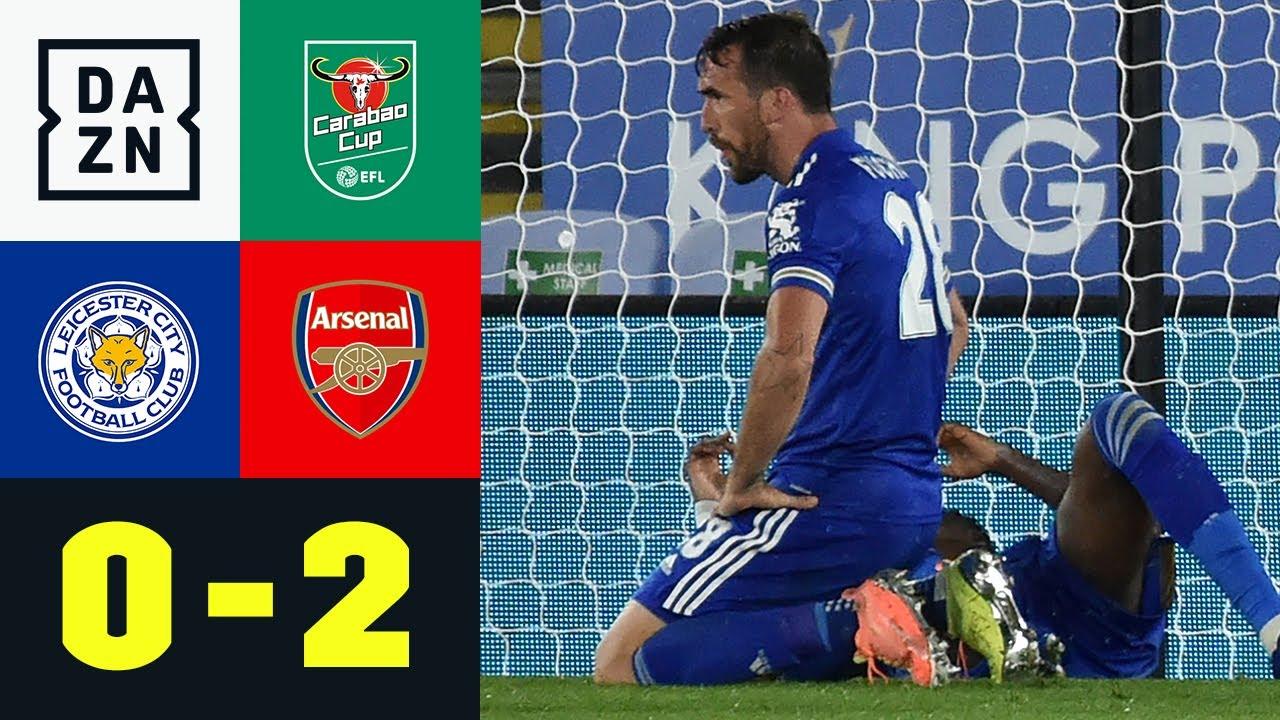 Arsenal fuchst sich gegen Foxes in die nächste Runde: Leicester - Arsenal 0:2 | Carabao Cup | DAZN