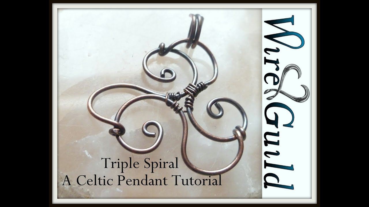Easy Triskel (triple Spiral) Celtic Wire Wrapped Pendant - YouTube
