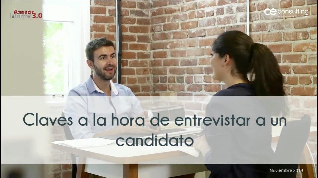 Claves a la hora de entrevistar a un candidato | Asesor Informa 3.0