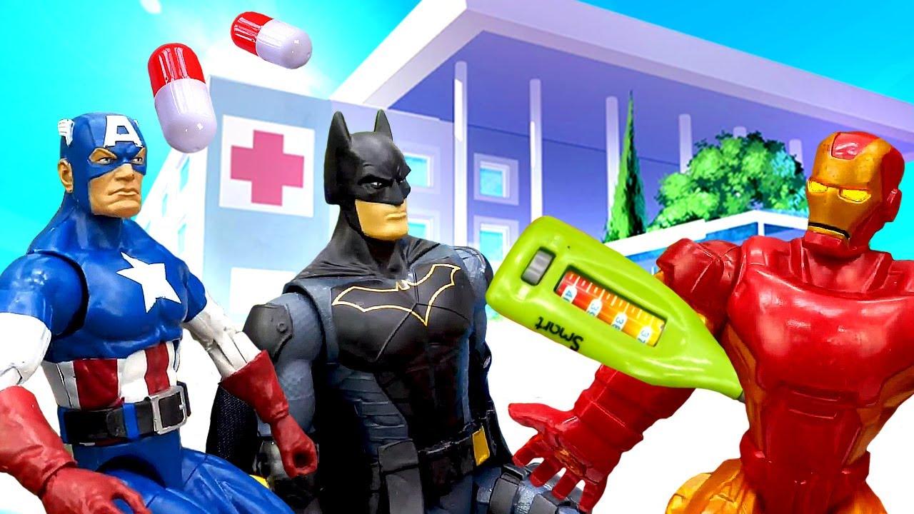 Batman se contagia. Juegos de superhéroes. Comics Dc vs Marvel