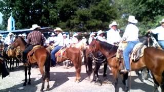Inicio de cabalgata del 396 aniversario de Jaumave Tamaulipas hacia el Ejido San Juanito