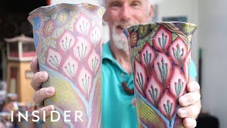 How Psychedelic, Rainbow Pottery is Made