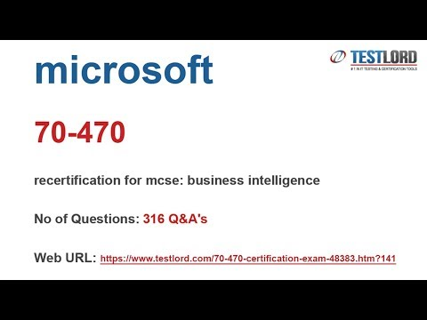 Download Microsoft 70-470 Test Practice Questions & Answers