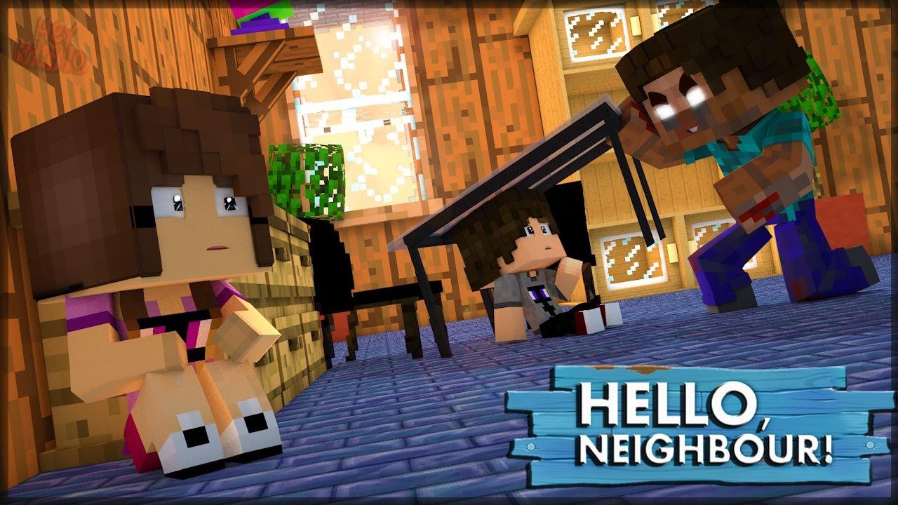 Herobrine Invadiu Minha Casa Hello Neighbor 5