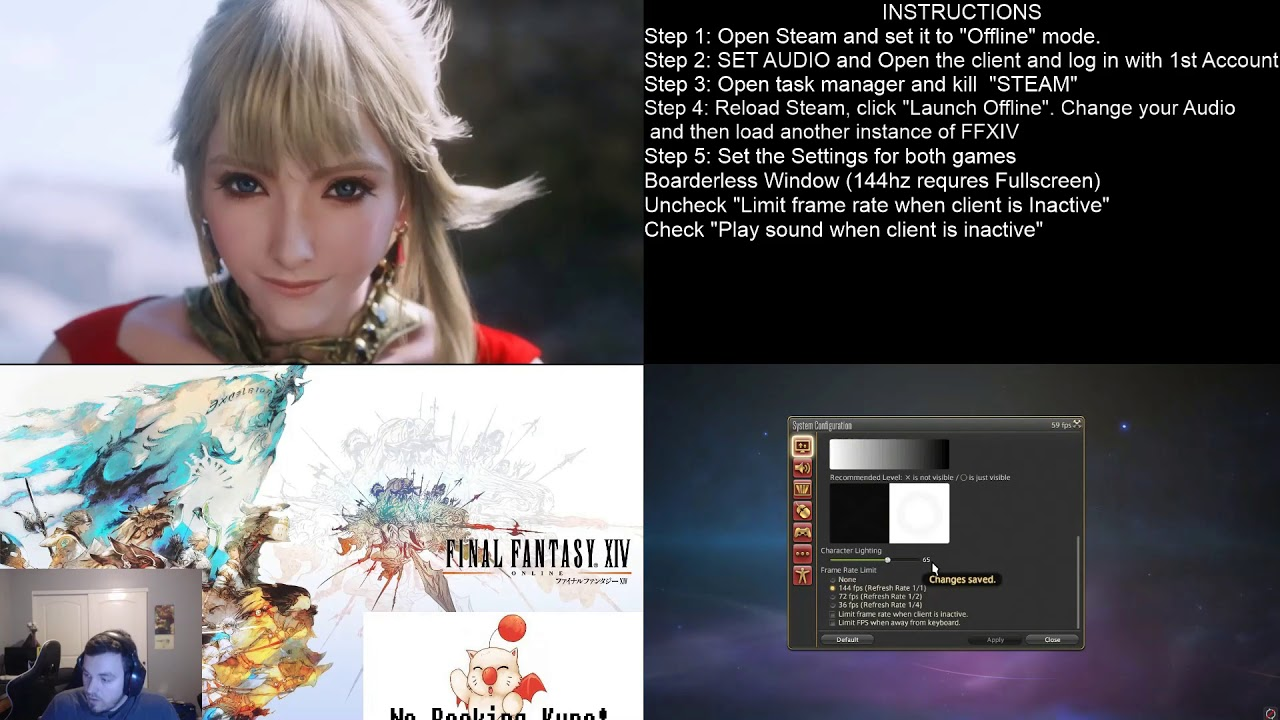 Play Two FFXIV Accounts on one computer! (Steam Copy)