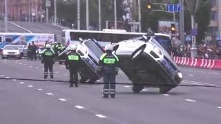 Выступление беларуских и российских инспекторов гаи на закрытие мотосезона-2016 H.O.G. Rally Minsk
