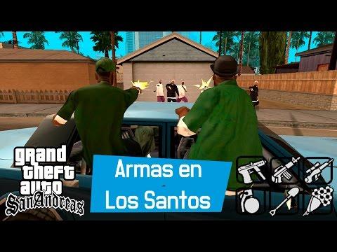 GTA San Andreas - Armas escondidas en Los Santos (M9, AK-47, UZI, M4, RPG, C4...)