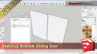 Sketchup Animate Sliding Door Tutorial With Oneclick Dynamic Component Attribute