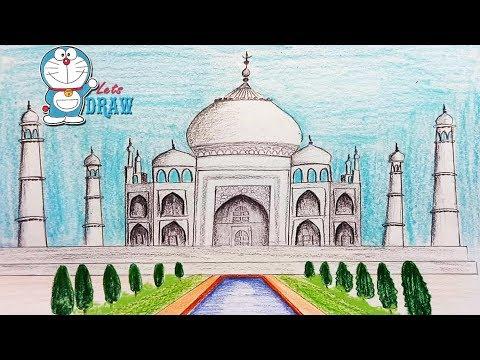 how-to-draw-taj-mahal-step-by-step-(very-easy)