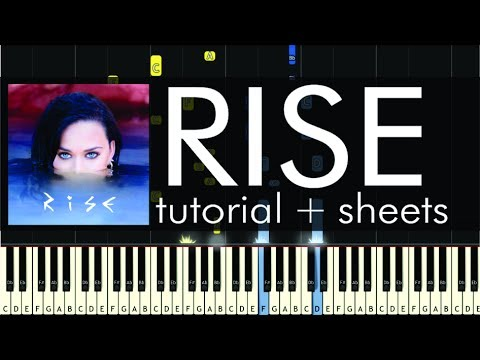 Katy Perry - Rise - Piano Tutorial - How to Play + Sheets