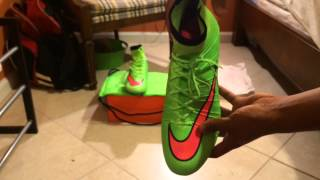 Nike Mercurial Superfly 4 Electric Green/Hyperpunch -Unboxing+on Feet