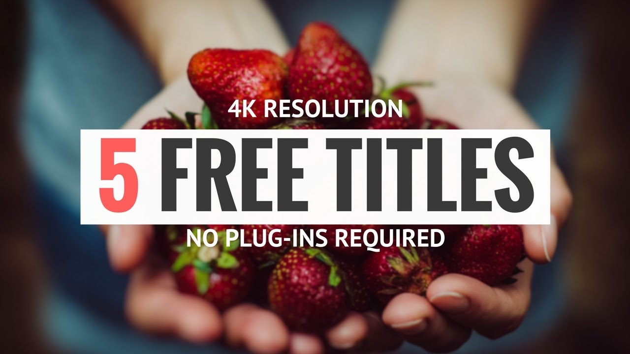 5 Free Titles For Fcp Motion 5 Youtube