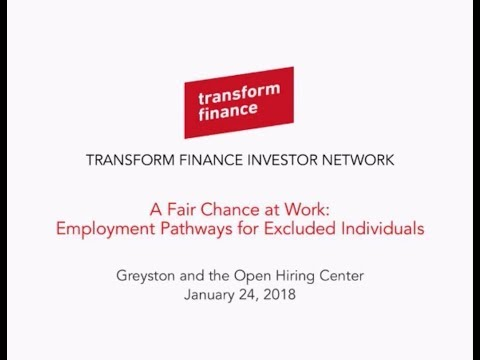 TFIN Webinar: A Fair Chance at Work –  Employment Pathways for Excluded Individuals