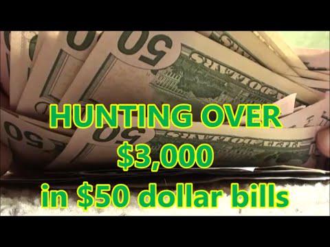 Hunting OVER $3,000 In $50 Dollar Bills