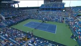 Amazing Backhand Passing Shot by Rafael Nadal