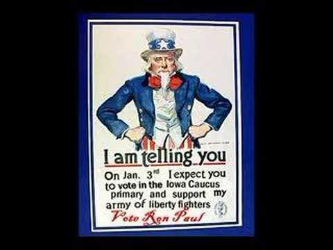 Ron Paul Liberty Iowa  Primary Caucus Uncle Sam