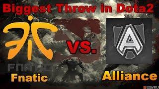 Fnatic Biggest Throw in Dota 2 vs Alliance | Starladder 9 -DTV