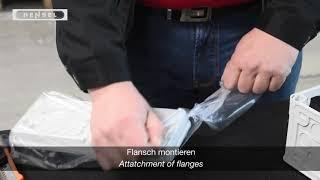 Mi - Flansch montieren / Attachment of flanges