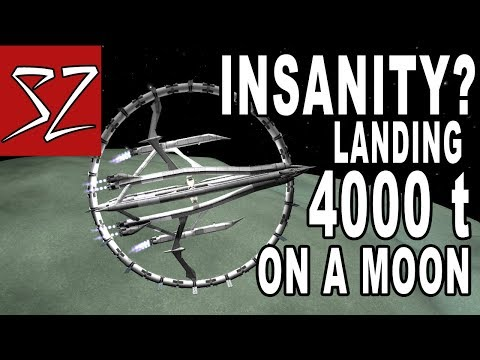 Refueling Franz - Giant 4000 ton Space Station landing on a Moon - Kerbal Space Program