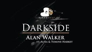 Alan Walker - Darkside (feat. AuRa and Tomine Harket) - Piano Karaoke / Sing Along Cover with Lyrics