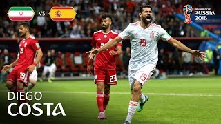 diego costa goal - ir iran v spain - match 20