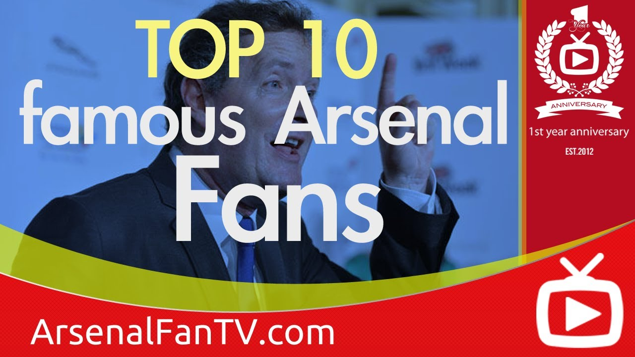 Top arsenal celebrity fans cheering