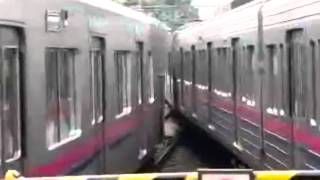 japan crazy train almost crash