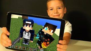 Майнкрафт с ПАПОЙ 🆘👬 с ВЕБКОЙ - НУБик Выживание в Minecraft PE с Родителями - КокаПлей
