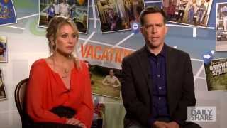 """vacation"" stars christina applegate and ed helms pay homage to chevy chase and beverly d'angelo"