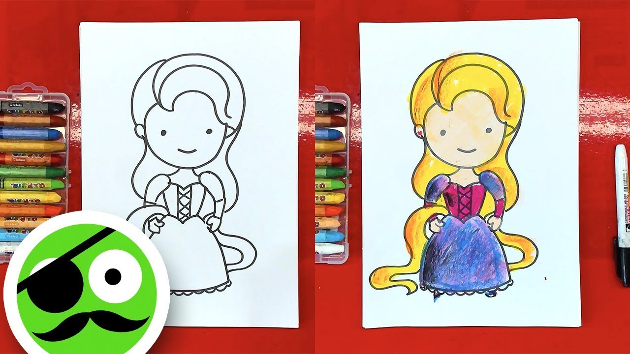 How to Draw Rapunzel / Drawing and Coloring book