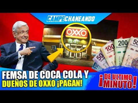 ¡ÚLTIMAS NOTICIAS! FEMSA COCA COLA DUEÑAS DE OXXO ¡PAGAN 8000 MILLONES AL SAT!