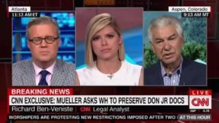 CNN Breaking News Mueller asks WH staff to preserve all docs related to Trump Jr's Russian Meet