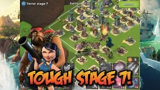 Boom Beach - Heavy & Zooka Face Dr.Terror on the Volcano Base! | Tough Stage 7!!!