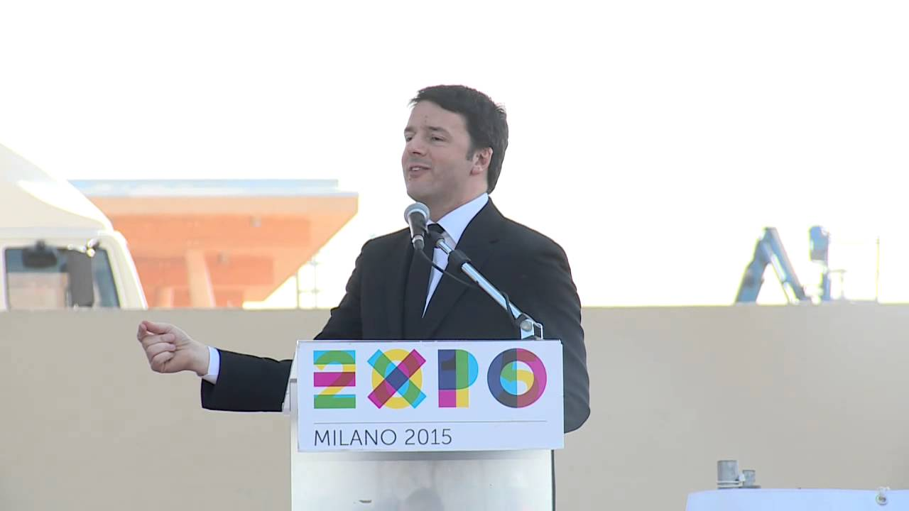 Milano, Matteo Renzi visita Cantieri Expo 2015 - YouTube