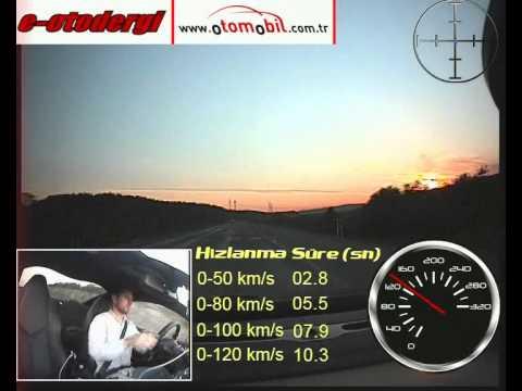 Peugeot RCZ 1.6 THP 200 HP Test (0-100 Km/s, 0-120 Km/s / 100-0 Km/s)