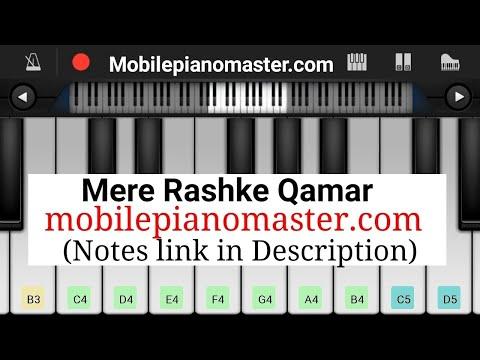 Mere rashke qamar Piano || Notes || perfect piano ||