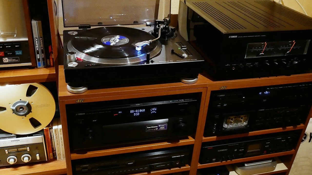 pioneer plx 500 on yamaha a s3000 and the complete pink. Black Bedroom Furniture Sets. Home Design Ideas