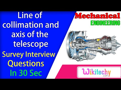 Line of collimation and axis of the telescope | Survey Interview Questions and Answers