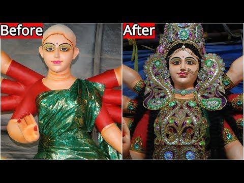 durga idol making 2018 | durga idol making process | making of durga murti