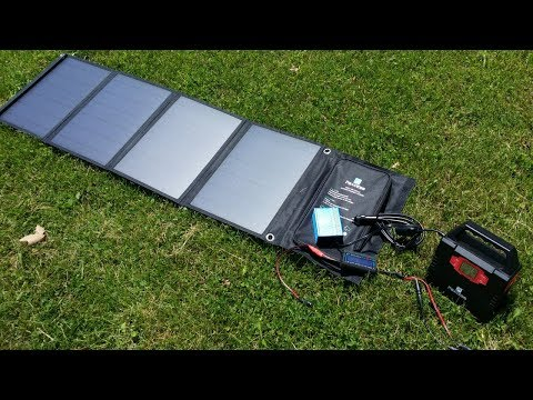 Paxcess 50W Solar Power Test Charging Paxcess 100W Solar Generator