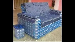 Sofa made from recycled plastic bottles | Best Amazing Creative ideas Plastic Bottle Sofa