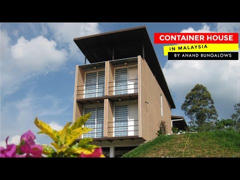 Contemporary Container Home in Malaysia by Anand Bungalows