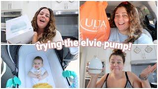 trying the elvie breast pump + mini ulta haul!