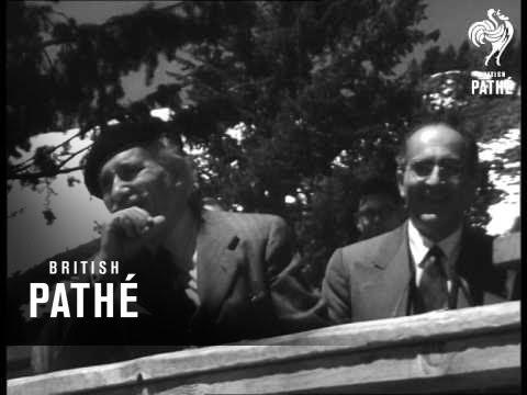 Toscanini On Ski Lift (1950)