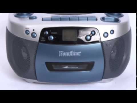 HamiltonBuhl MPC-5050Plus Boombox with USB, MP3, CD, Cassette and AM/FM Radio