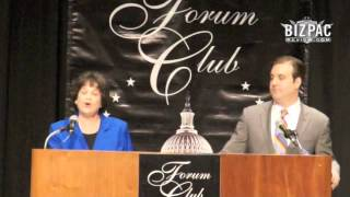 Lois Frankel struggles with term limit question at Forum Club