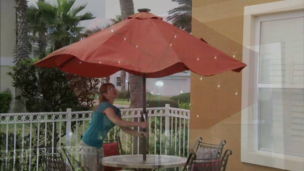 tan lighted with best patio umbrella com choice amazon deluxe dp tilt led outdoor solar products garden